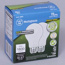 Lightbulb, 72-W Eco, Soft White, Pack of 2
