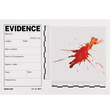 Sirchie® Blood Stain/Evidence Template, Pack of 15