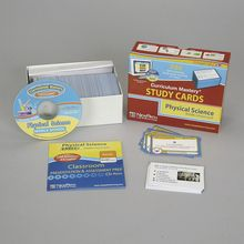 Physical Science Study Cards and Interactive CD-ROM Set
