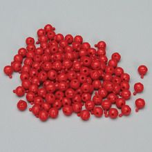 Bead, 4-Way, Red, Pack of 150