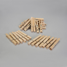 Wood Clothespins, with Springs, Pack of 36