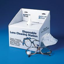 Lens Cleaning Station, self-contained