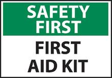 First Aid Kit Safety Sign