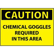 Chemical Goggles Required Safety Sign