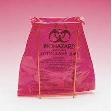 Benchtop Biohazard Disposal Bags with Holder