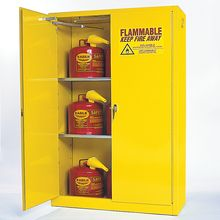 Large-Capacity Flammables Cabinet, Self-Closing Doors