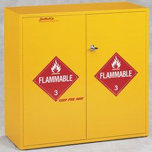 Flammables Floor Cabinet, Self-Closing Doors, 54 gal