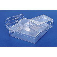 Storage Box, Hinged Plastic, 5 1/8 x 3 1/8 x 1 5/16