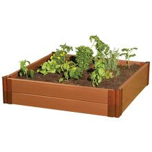Frame It All Composite Raised Garden Bed, 4 x 4-ft Kit
