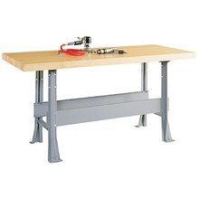 Heavy-Duty Work Bench, 2 Station, 64 W x 28 D, 150 lbs