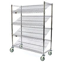Angled Shelf Cart, 60