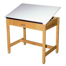 Drawing Tables with Center Drawer