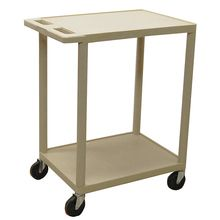 Economy 2-Shelf Lab Cart, Putty