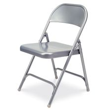 All-Steel Folding Chair, Silver Mist