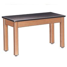 Student Table with Plain Apron and Chemical-Resistant Laminate Top, 48 x 24 x 30
