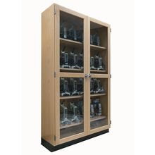 Microscope Storage Cabinet, 30 Compartments, 48 x 16 x 84