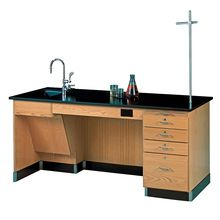 ADA Instructor's/Student Desk, Phenolic Resin Top