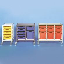 3 Column Gratnell Trolley Storage Cart (40x17x34