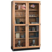 Wall Storage Cabinet with Oak-Framed Glass Doors, 48