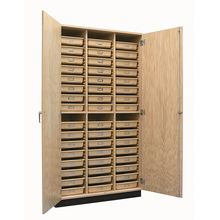 Storage Cabinet with Tote Trays