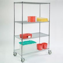 Wire Shelving Cart, 48