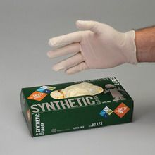 Latex-Free Gloves, Powdered, Large, Dispenser of 100