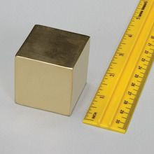 Density Cube, Brass, 1-1/2