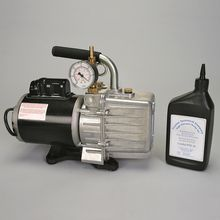 Two-Stage Vacuum Pump with Gauge
