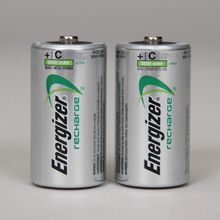 Energizer Rechargeable NiMH C Battery, Pack of 2