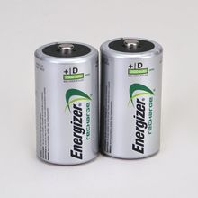 Energizer Rechargeable NiMH D Battery, Pack of 2