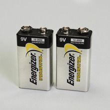 Energizer® Industrial Alkaline Battery, 9 V, Pack of 2