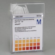 Universal pH Indicator Strips, Range 7.5-14, Pack of 100
