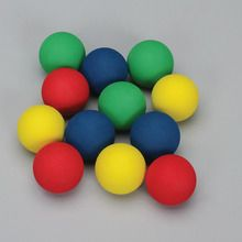 Ball, Foam, Assorted Colors, Pack of 12