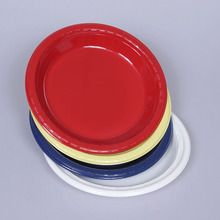 Plate, Plastic, Colored, Pack of 8