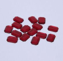 Jewel, Octagon, Red, Pack of 15