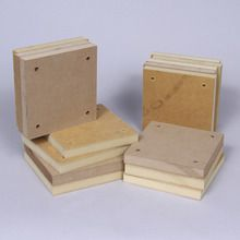 Base, Square, Natural, 14.6 cm, Pack of 15
