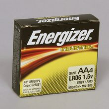 Battery, Alkaline, Size AA, Pack of 4
