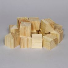 Cube, Wood, 5-cm Square, Pack of 16