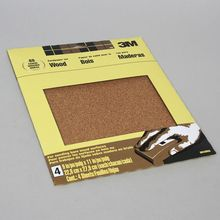 Sandpaper, Coarse, 14 x 27 cm, Pack of 4 Sheets