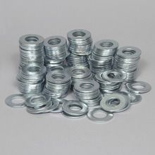 Washer, Flat, Zinc, 7/8 in, Pack of 200