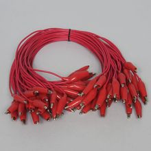 Wire, Connector, with Alligator Clips, Red, Pack of 40
