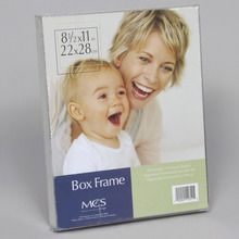 Frame, Box, Clear, Plastic, 8-1/2 x 11