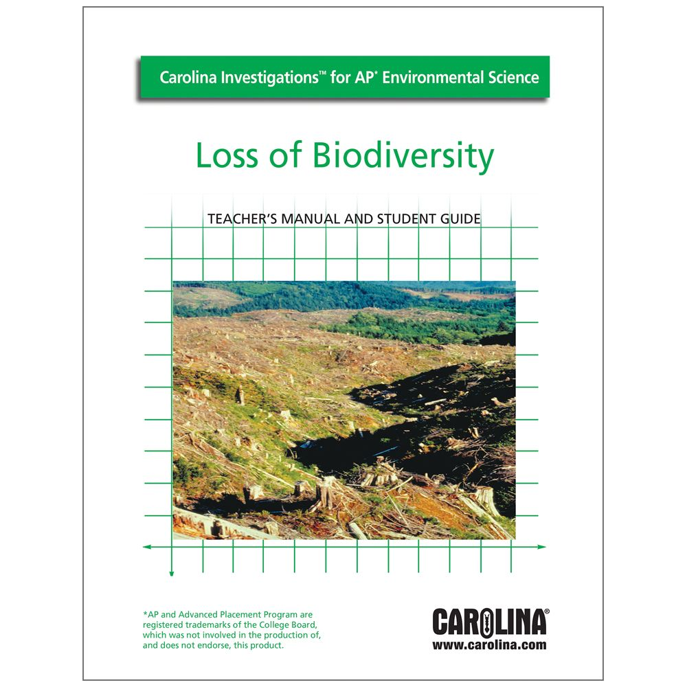 Carolina investigations for ap environmental science loss of carolina investigations for ap environmental science loss of biodiversity digital teachers manual fandeluxe Image collections