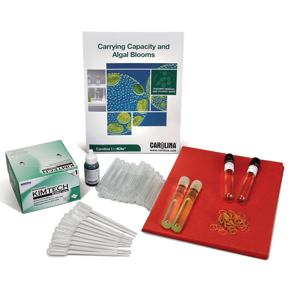 Analyze patterns in sample populations to determine conditions that influence algal growth rate with our Carrying Capacity and Algal Blooms kit.