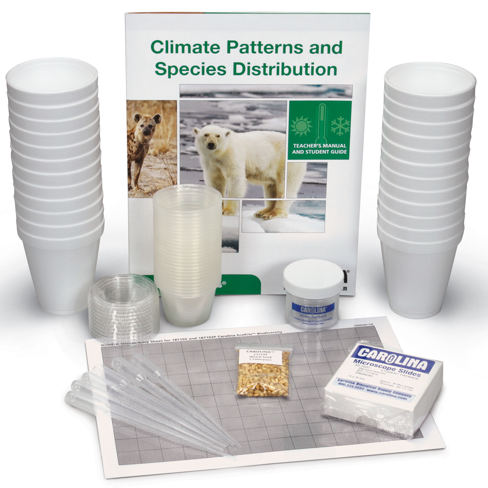 Conduct an investigation to gather evidence and make a claim regarding taxonomic diversity with Carolina EcoKits®: Climate Patterns and Species Distribution.