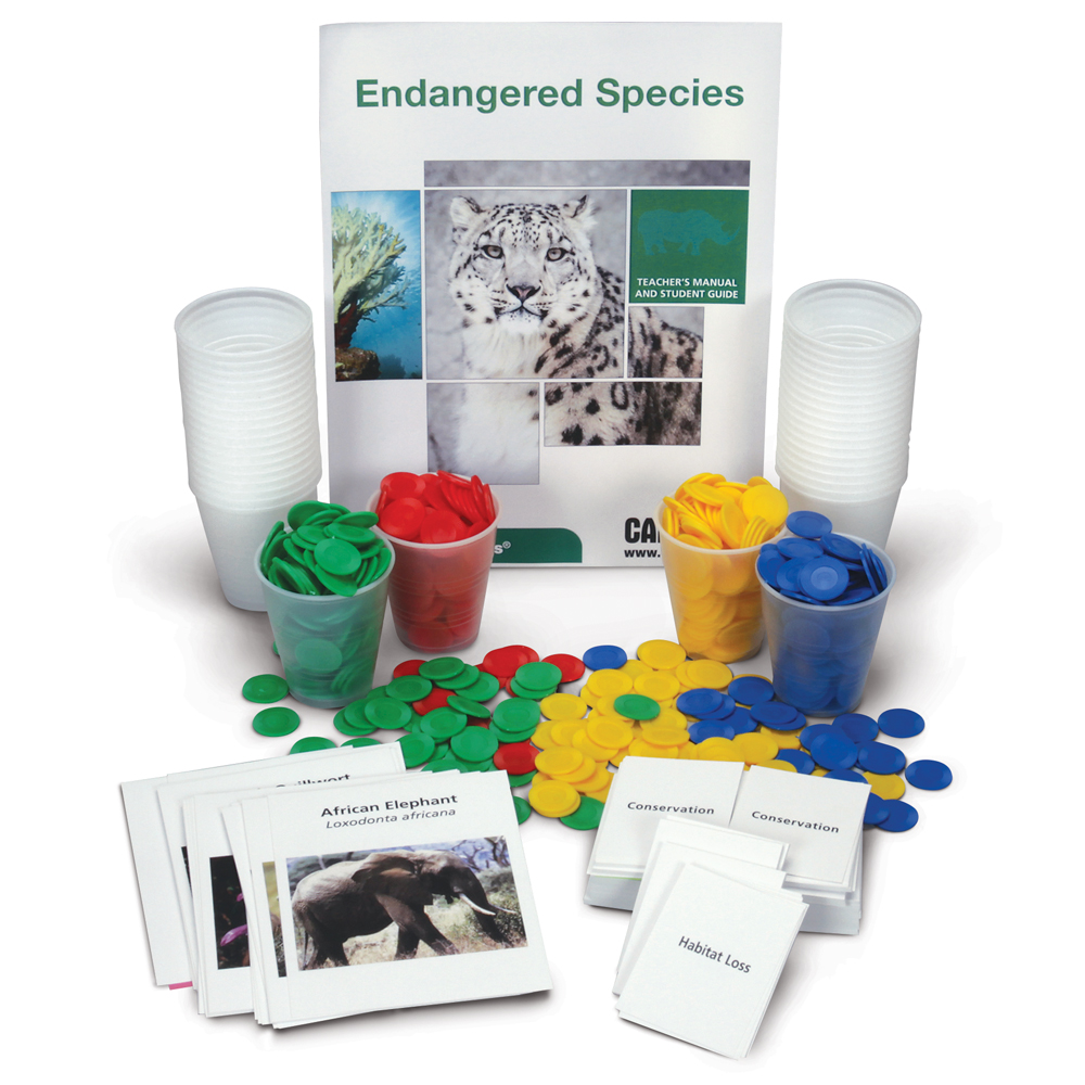 Use evidence to support claims for how changes in environmental conditions may result in the extinction of a species with the Carolina EcoKits®: Endangered Species kit.