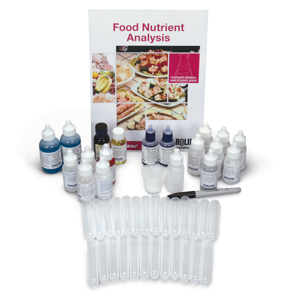Identify large hydrocarbons from food nutrient tests and more with Carolina BioKits®: Food Nutrient Analysis kit.
