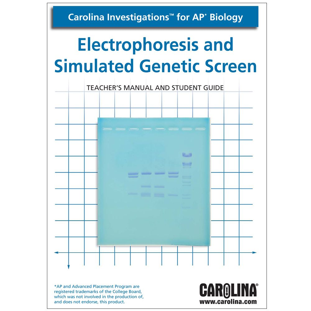 Carolina investigations for ap biology electrophoresis and carolina investigations for ap biology electrophoresis and simulated genetic screen digital teachers manual fandeluxe Image collections