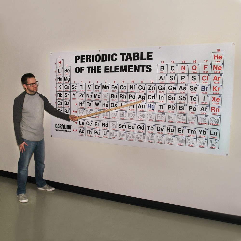 Periodic table of the elements chart large carolina periodic table of the elements chart large urtaz Image collections