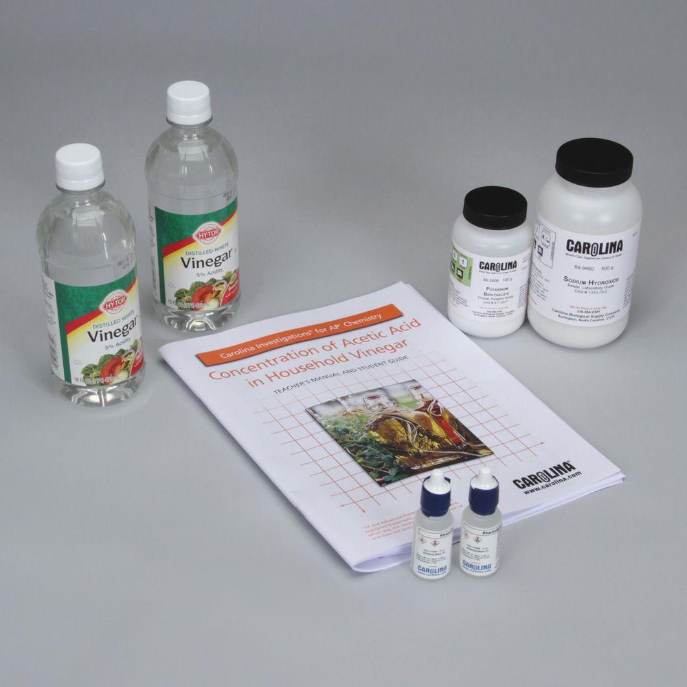 Carolina Investigations® for AP® Chemistry: Concentration of Acetic Acid in  Household Vinegar Kit